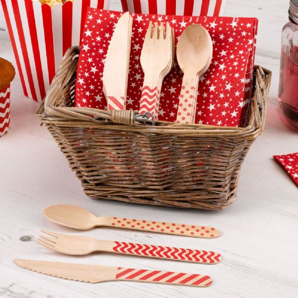 Carnival Red Cutlery Set (24)